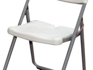 Καρέκλα πτυσσόμενη πολυπροπυλενίου σε λευκό χρώμα 40x44x110