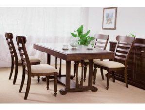 Καρέκλα τραπεζαρίας από μασίφ ξύλο σε χρώμα καρυδί 50x63x98