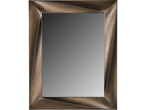Ορθογώνιος πλαστικός καθρέπτης σε χρώμα χρυσό 75×60