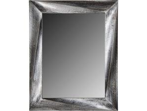 Ορθογώνιος πλαστικός καθρέπτης στο χρώμα του κασσίτερου 75×60