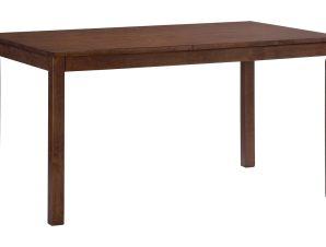 """Τραπέζι """"ALDO"""" από ξύλο μασίφ σε χρώμα σκούρο καρυδί 120×80"""
