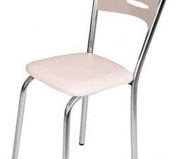 """Καρέκλα """"ROMINA"""" από MDF/μέταλλο σε χρώμα σονόμα 39x39x88"""