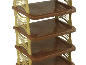 Παπουτσοθήκη με 5 ράφια σε καφέ/μπεζ 48x30x82