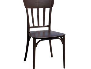 """Καρέκλα """"ΜΙΝΑ"""" από PP σε χρώμα σκούρο καφέ 42x42x90"""