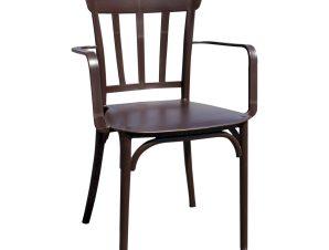 """Πολυθρόνα """"ΜΙΝΑ"""" από PP σε χρώμα σκούρο καφέ 42x42x90"""
