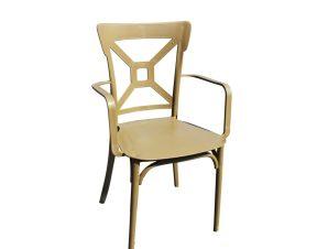 """Πολυθρόνα """"LOREN"""" από PP σε χρώμα καπουτσίνο 42x42x90"""