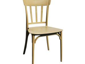 """Καρέκλα """"MINA"""" πλαστική σε χρώμα cappuccino 42x42x90"""