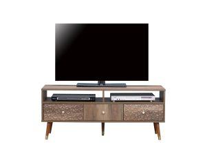 """Έπιλο τηλεόρασης """"VICTORIA"""" σε καφέ χρώμα 120x39x50"""