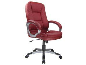 Πολυθρόνα διευθυντή από τεχνόδεμα σε κόκκινο χρώμα 64x71x112/121