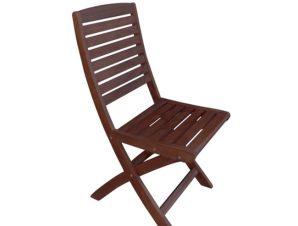 """Καρέκλα """"SPOT"""" πτυσσόμενη από ξύλο σε χρώμα καρυδί 43x54x90"""