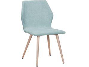 """Καρέκλα """"LETO"""" μεταλλική-υφασμάτινη σε βεραμάν χρώμα 45x62x84"""