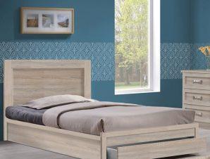 """Κρεβάτι-συρτάρι """"LIFE"""" ημίδιπλο σε χρώμα σονόμα 118x207x93"""