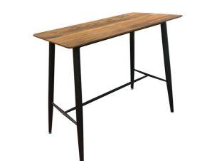 """Τραπέζι bar """"LAVIDA"""" μεταλλικό σε μαύρο-καρυδί antique χρώμα 160x60x106"""