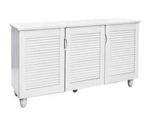 Παπουτσοθήκη σε χρώμα λευκό 114x34x68