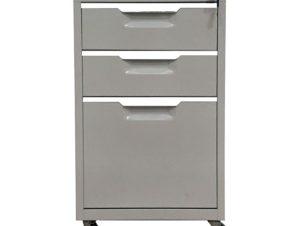 Συρταριέρα γραφείου μεταλλική σε χρώμα γκρι 40x50x67