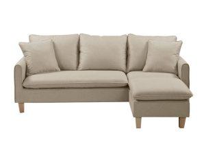 """Καναπές γωνία αναστρέψιμος """"ELISA"""" υφασμάτινος σε χρώμα μπεζ 194/138x76x82"""