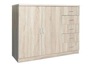 Παπουτσοθήκη-ντουλάπι σε χρώμα σονόμα 120x40x100