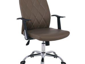 """Πολυθρόνα διευθυντή """"BF1450"""" από pu σε χρώμα cappuccino 60x60x97/107"""