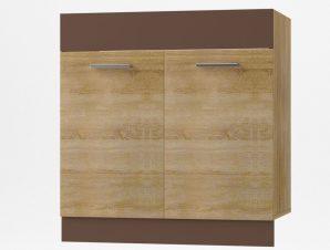 """Κάτω ντουλάπι νεροχύτη """"ALINA"""" σε χρώμα σονόμα-μόκα 80×44,5×85"""