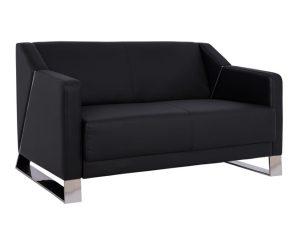 """Καναπές """"KIZZY"""" διθέσιος από pu σε μαύρος χρώμα 128x75x75"""