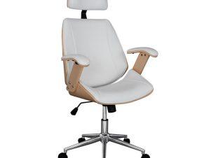 """Πολυθρόνα διευθυντή """"SUPERIOR PRO"""" PU σε χρώμα σονόμα/λευκό 63x67x123"""
