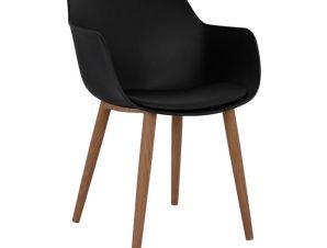 """Πολυθρόνα """"LUCIE"""" πολυπροπυλενίου-pu σε χρώμα μαύρο 56x57x80"""