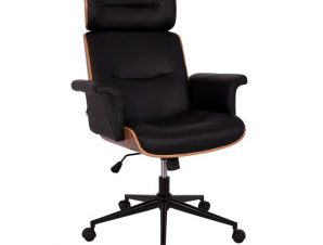 """Πολυθρόνα διευθυντή """"SUPERIOR PRO"""" σε καρυδί-μαύρο χρώμα 74x74x116"""