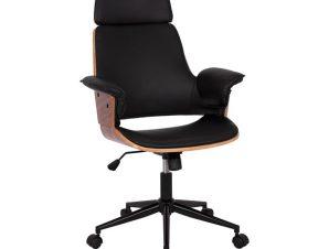"""Πολυθρόνα διευθυντή """"SUPERIOR PRO"""" σε καρυδί-μαύρο χρώμα 67x66x120"""