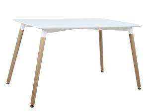"""Τραπέζι """"MINIMAL"""" από mdf σε χρώμα λευκό/φυσικό 120x80x73"""