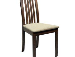 Καρέκλα τραπεζαρίας ξύλινη μασίφ σε χρώμα καρυδί 45x52x96,5