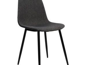 """Καρέκλα """"LEONARDO"""" μεταλλική/υφασμάτινη σε χρώμα γκρι 52x42x82"""