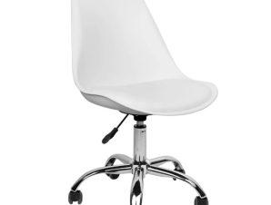 """Καρέκλα γραφείου """"VEGAS"""" από pp-pu σε λευκό χρώμα 48x56x95"""