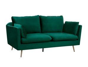 """Καναπές """"KAREN"""" τριθέσιος από ύφασμα σε χρώμα κυπαρισσί/χρυσό 208x81x95"""