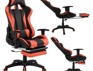 """Πολυθρόνα εργασίας """"SPEED"""" από PU σε χρώμα μαύρο/κόκκινο 68×71,5×134"""