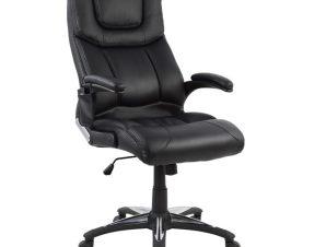 """Πολυθρόνα διευθυντή """"MASSAGE"""" από PU σε χρώμα μαύρο 65x80x125"""