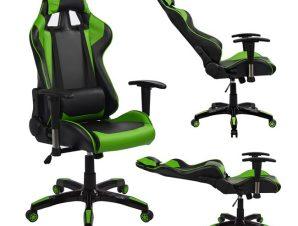 """Πολυθρόνα διευθυντή """"GAMING"""" από PU σε χρώμα μαύρο/πράσινο 67x70x134"""