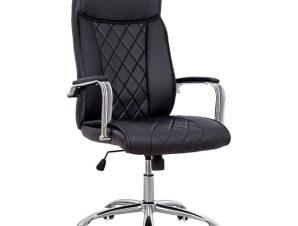 Πολυθρόνα διευθυντή από PU σε χρώμα μαύρο 64x68x123