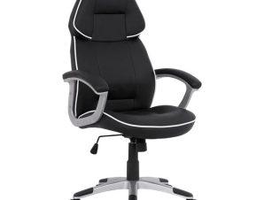 """Πολυθρόνα εργασίας """"GAMING BUCKET"""" από PU σε χρώμα μαύρο/λευκό 69x68x127"""