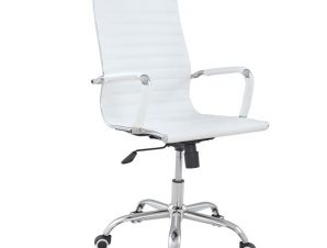 """Πολυθρόνα διευθυντή """"BOSS"""" από PU σε χρώμα λευκό 54x70x113,5"""