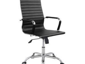 """Πολυθρόνα διευθυντή """"BOSS"""" από PU σε χρώμα μαύρο 54x70x113,5"""