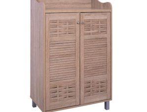 Παπουτσοθήκη-ντουλάπι σε χρώμα σονόμα 77×40,5×122
