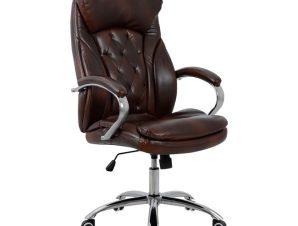 Πολυθρόνα διευθυντή από pu σε καφέ χρώμα 65x73x125