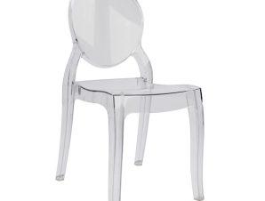 """Καρέκλα """"ARAMIS"""" ακρυλική σε χρώμα διάφανο 42,5x52x89,5"""