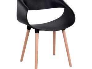 """Πολυθρόνα """"MAGGIE"""" από PP σε χρώμα μαύρο/φυσικό 59x53x80"""