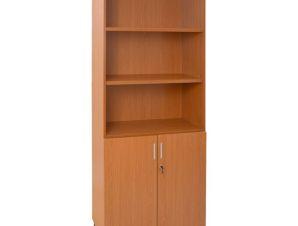 Βιβλιοθήκη γραφείου επαγγελματική σε χρώμα κερασί 80x40x190