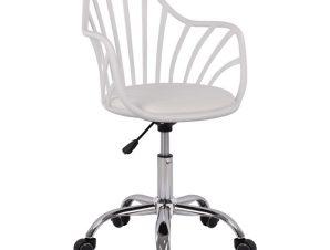 """Καρέκλα γραφείου """"BECKY"""" από pp-pu σε λευκό χρώμα 57x57x96"""