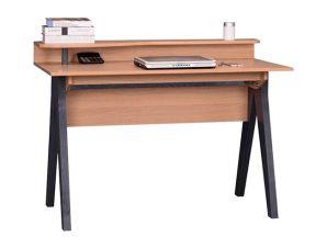 """Γραφείο """"CHANELLE"""" από μέταλλο σε χρώμα φυσικό/μαύρο 120x59x85"""