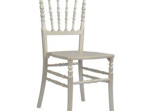 """Καρέκλα """"NAPOLEON"""" από ξύλο σε χρώμα περλέ λευκό 40×46,5×90"""