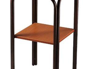 Τραπέζι βοηθητικό δίπατο μεταλλικό σε χρώμα καφέ 50×60