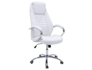 """Πολυθρόνα διευθυντή """"SONAR"""" από τεχνόδερμα σε χρώμα λευκό 61x57x120/128"""